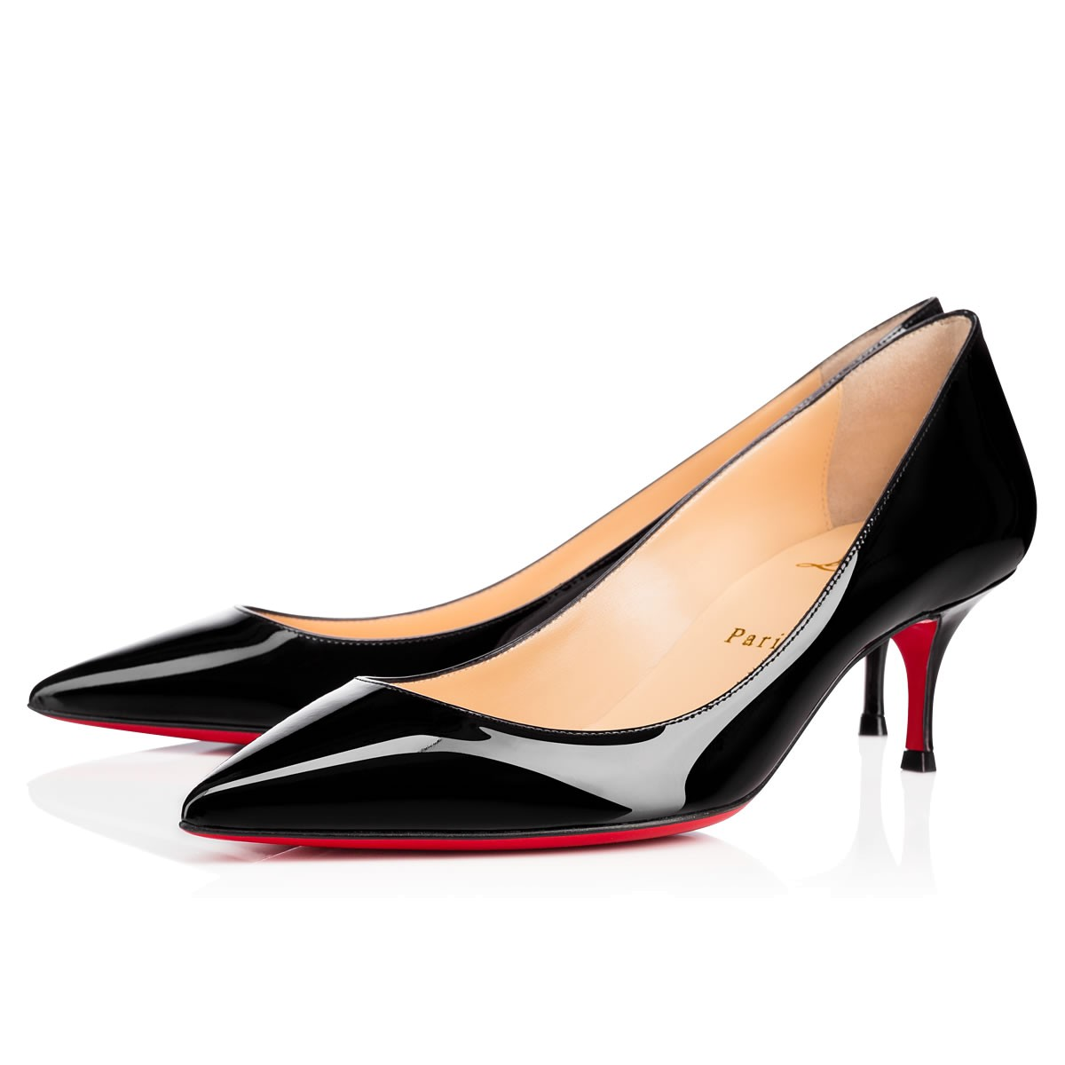 Pigalle Follies 55 Patent-Leather Pumps, Black