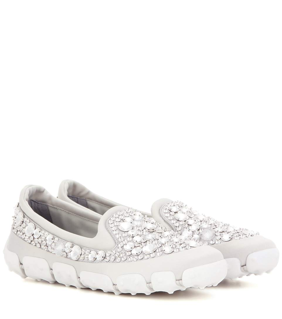Free Shipping Amazing Price To Buy Miu Miu Embellished Slip-On Sneakers 5Jj2Z
