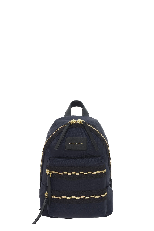 Biker Nylon Backpack - Black