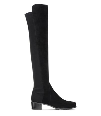 40Mm Reserve Suede & Elastic Boots in Grey from STUART WEITZMAN
