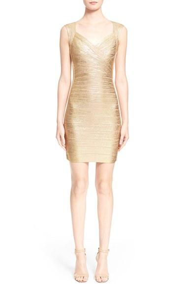 Hervé Léger Woman Gweneth Fringed Metallic Bandage Maxi Dress Antique Rose Size S Hérve Léger