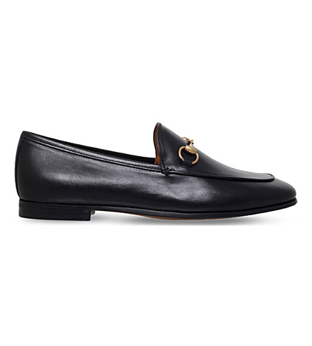 10Mm Jordan Horsebit Leather Loafers in Black
