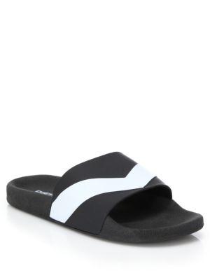 DIESEL Men'S A-Lohaa Sa-Maral Slide Sandals Men'S Shoes, Black