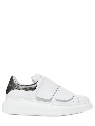 Alexander McQueen 40MM LEATHER & METALLIC LEATHER SNEAKERS 3siYelm