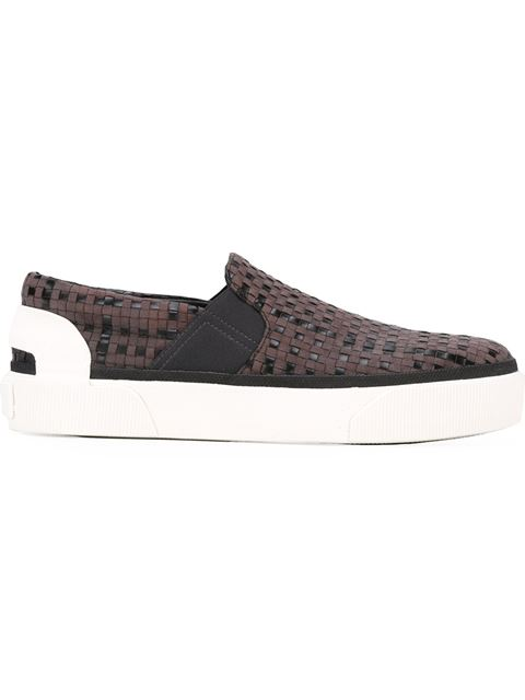 Choose a Size. StoreStatus Price. LANVIN Grey Suede Woven Slip-On Sneakers