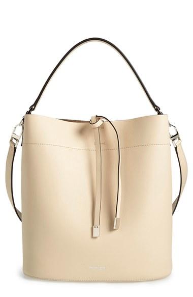 0e19e1fe239 MICHAEL KORS Miranda Medium Leather Shoulder Bag, Vanilla Dune, Vanilla   Dune