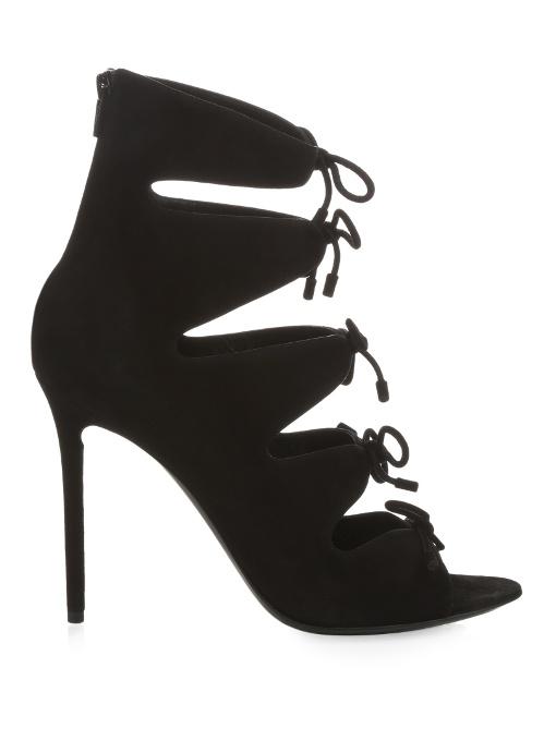 404c32727f5e BALENCIAGA Bouclé-Bow Suede Sandals