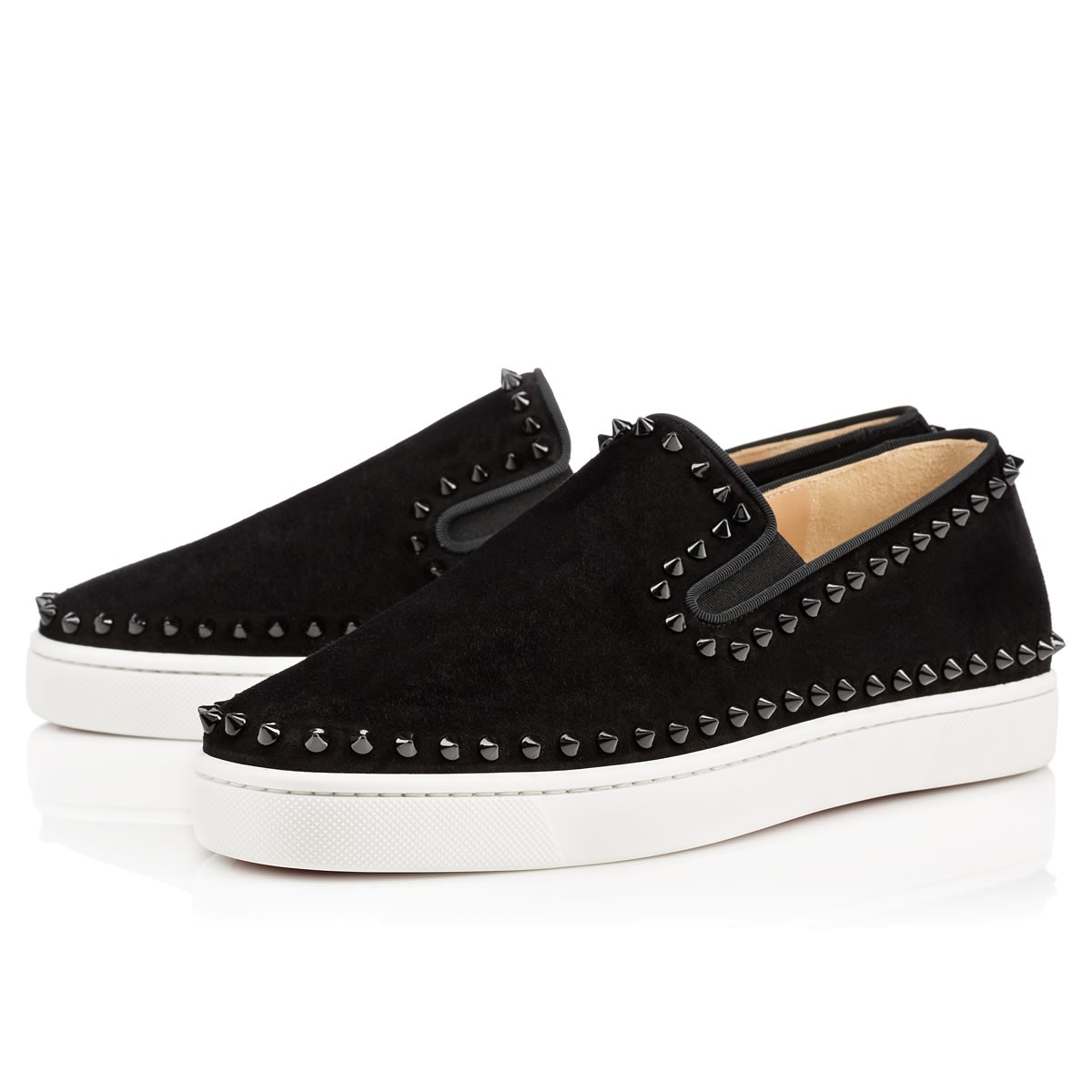Christian Louboutin Spiked Slip-On Sneakers Visit Cheap Sale Enjoy Free Shipping Deals Sale Prices XsspO3IX
