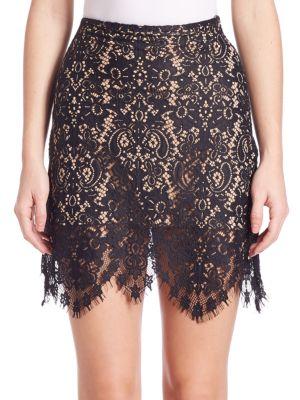 FOR LOVE & LEMONS Vika Mini Skirt, Black