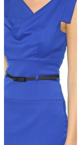 Jackie O Belted Dress in Cobalt