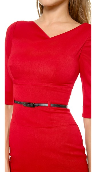 BLACK HALO Jackie 3/4-Sleeve Sheath Dress, Blue in Red
