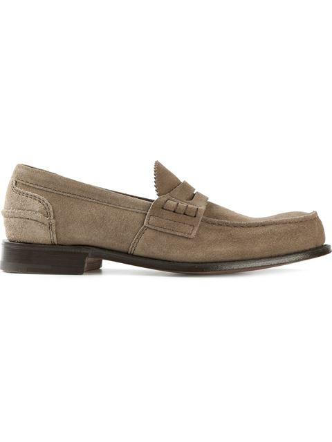 CHURCH'S Pembrey Suede Loafers, Beige