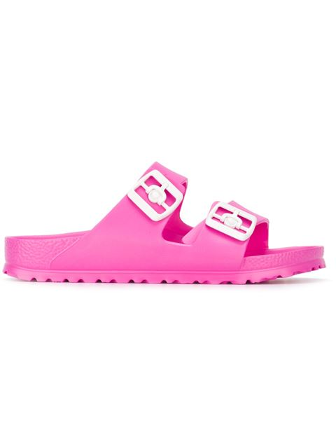 'Essentials - Arizona' Slide Sandal (Women) (Nordstrom Exclusive), Pink & Purple