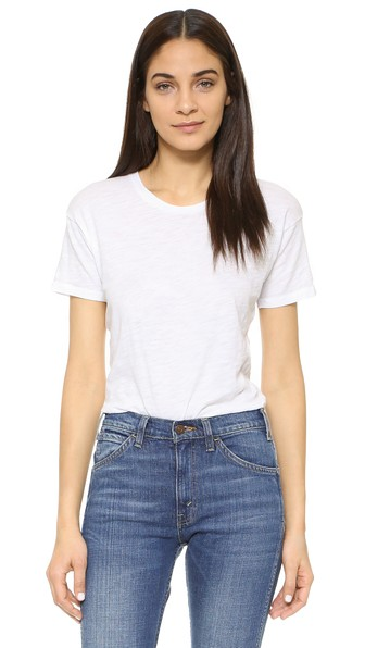 MADEWELL Whisper Slub Cotton-Jersey T-Shirt in Optic White