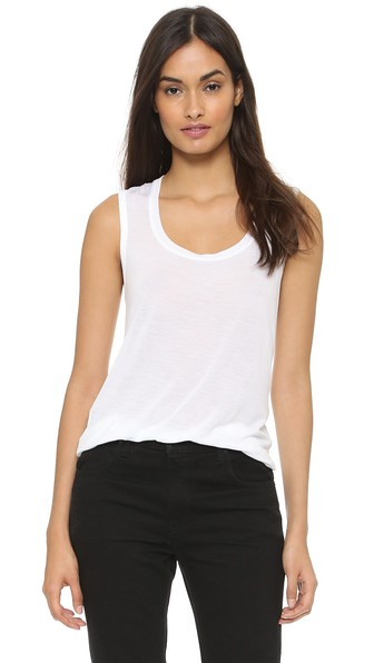 Sweatheart Tank Top, White