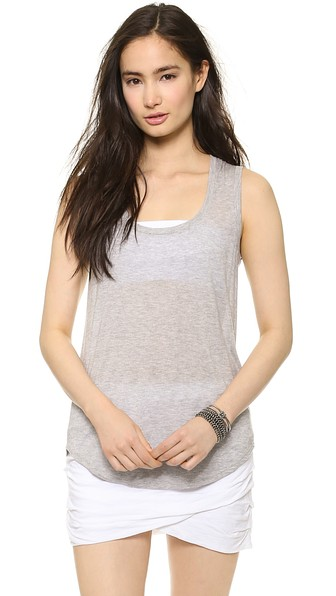 Sweatheart Tank Top, Heather Grey