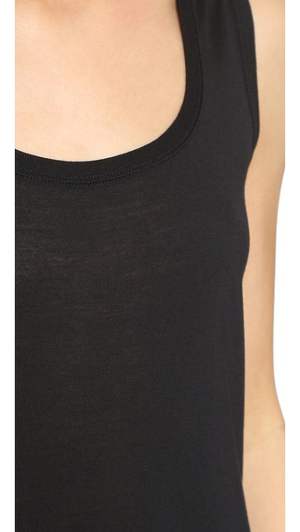 Sweatheart Tank Top, Black
