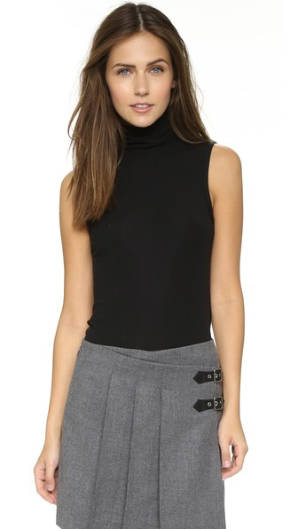 Wendel Stretch-Jersey Turtleneck Top in Black