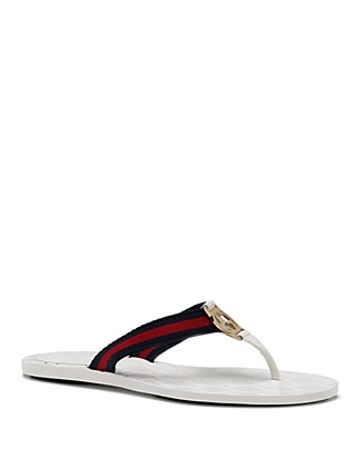 6d7d7918e0da Gucci New Gg Canvas   Leather Signature Thong Sandals In Select Color
