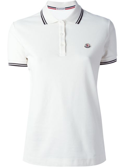 Piped Collar Polo Shirt in White