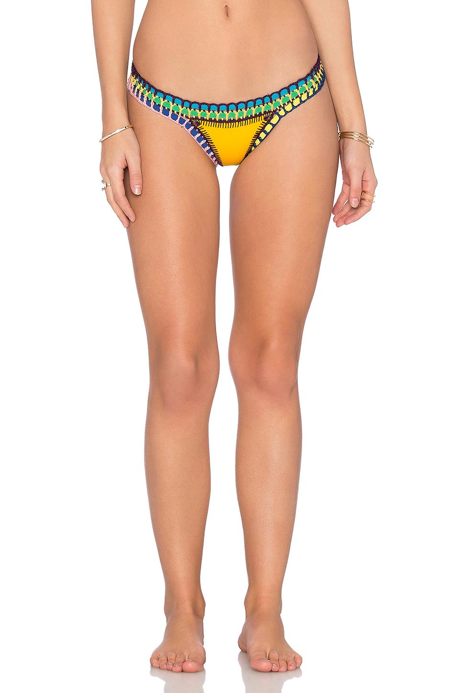 'Ro' Hand Crochet Bikini Bottoms in Bright Yellow/Multi