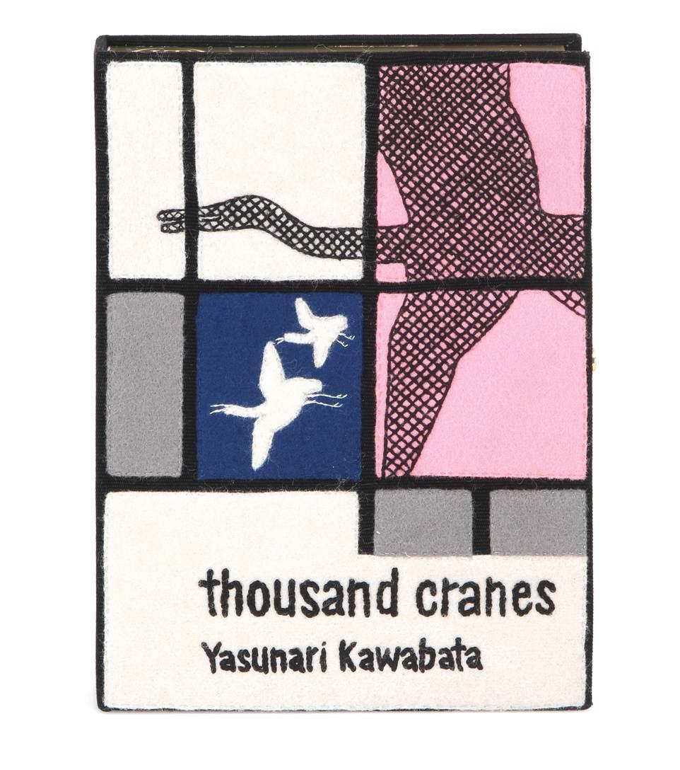'Yasunari Kawabata' Book Clutch in Multicolour