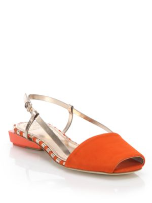 Tory Burch Suede Slingback Sandals Sale From China Free Shipping Cheap Online Pre Order For Sale w4EWNAV