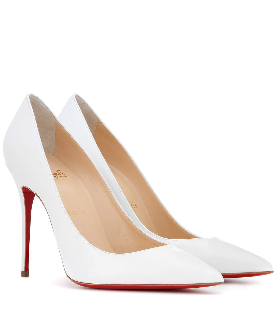 CHRISTIAN LOUBOUTIN Decollete 554 100Mm Neige Leather
