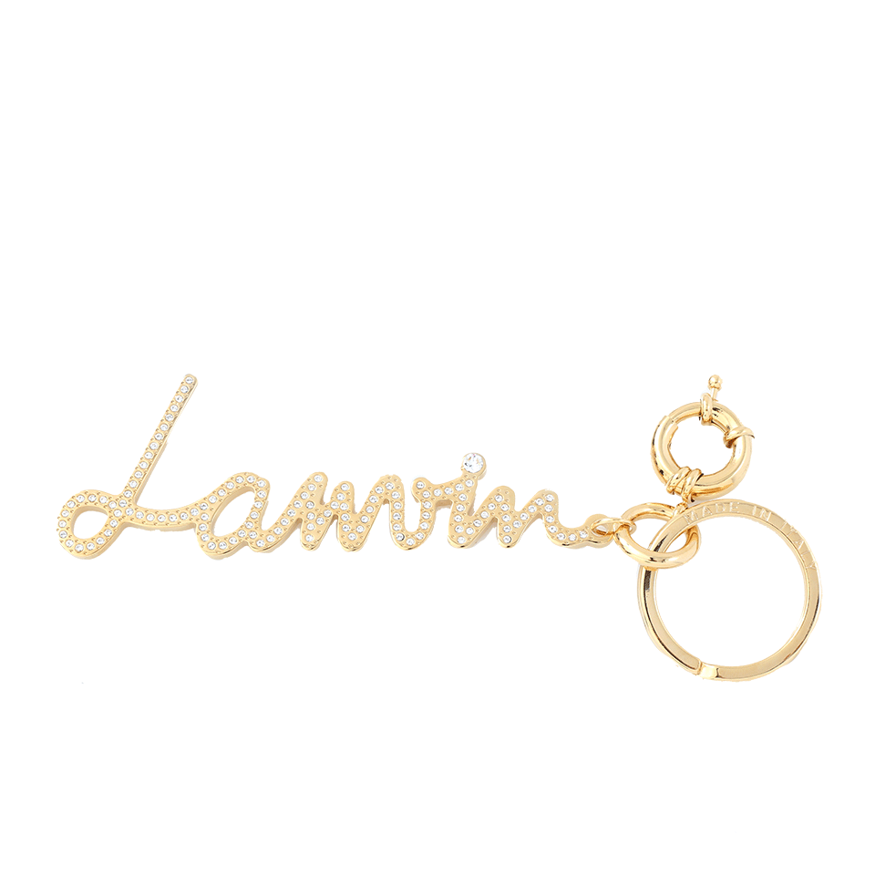 LANVIN Logo Keyring, Gold