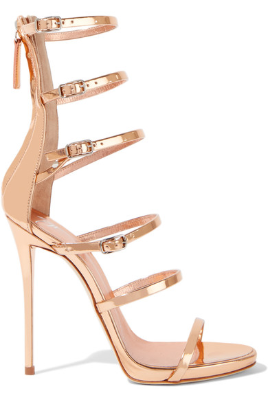 Low Price Sale Giuseppe Zanotti Multi-Strap Metallic Leather Sandals Free Shipping Fashion Style Free Shipping Outlet Locations WpNNeEC