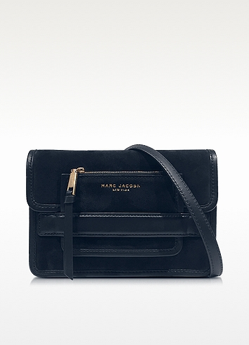 a1b1dca81d38 Marc Jacobs Madison Midnight Blue Suede   Leather Medium Shoulder Bag In  Dark Blue