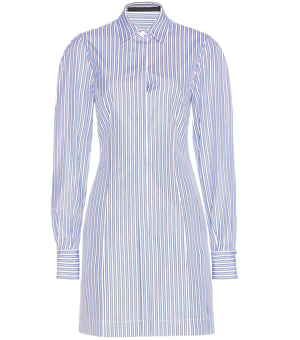 Versace Striped Cotton Poplin Shirt Dress Modesens
