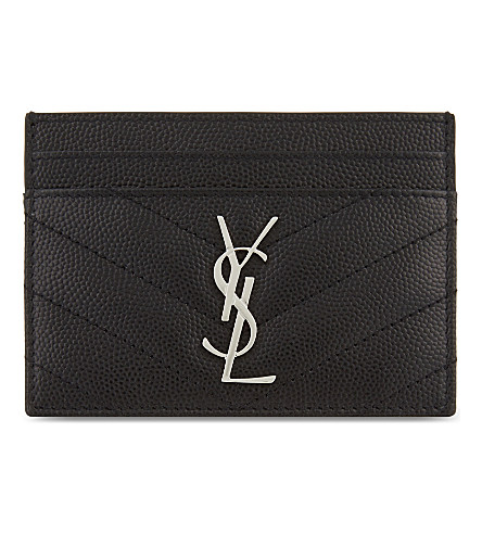 Monogram Grain De Poudre Matelass Card Case Saint Laurent qWDYMD