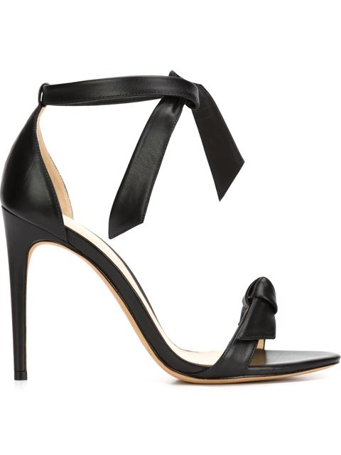 Clarita Leather Ankle-Tie 100Mm Sandals, Black from Moda Operandi