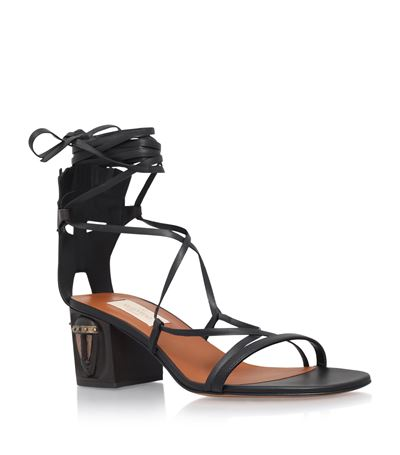 Valentino Mask Leather Sandals