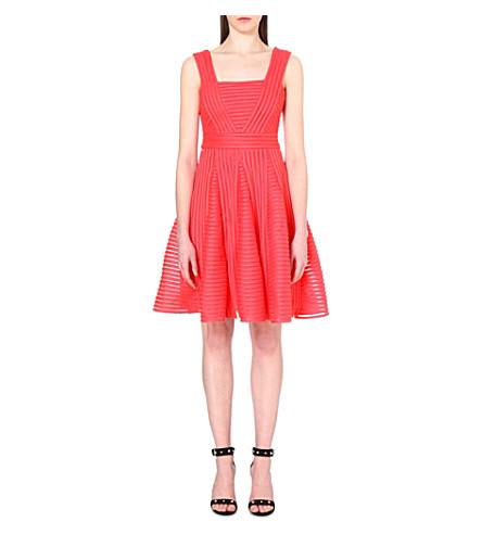 MAJE Rodez Technical Knit Dress, Coral