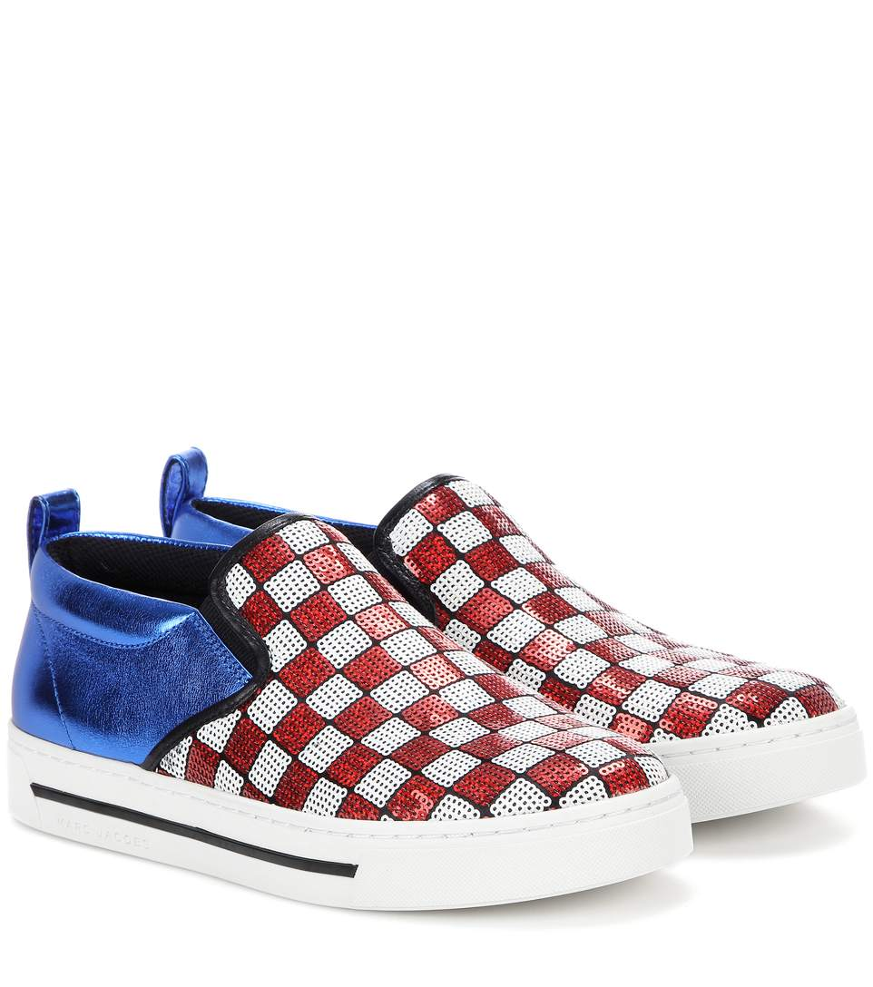 Marc Jacobs Leather Slip-On Sneakers with Sequins Gr. IT 35 aHhpYd9o
