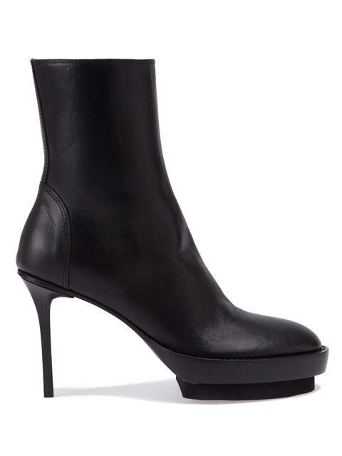 Platform Boots With Stiletto Heel in Black