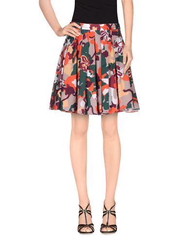 ELLE SASSON Knee Length Skirt in Orange