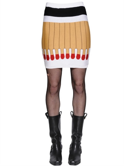 It'S Lit Intarsia Wool Knit Skirt, Multicolor