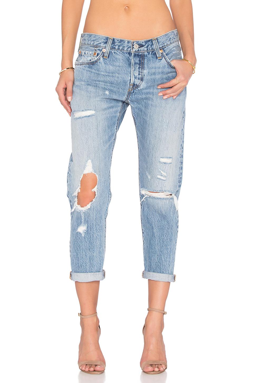 501 Skinny Jeans In Old Hangouts in Blue