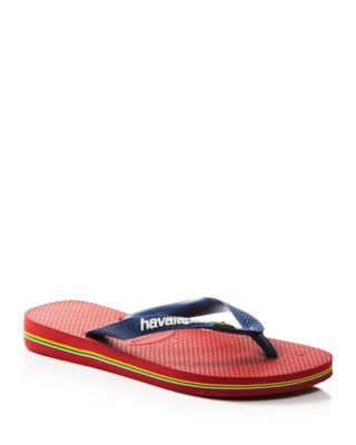 HAVAIANAS Men'S Brazil Logo Flip Flop Sandals Men'S Shoes in Dark Red