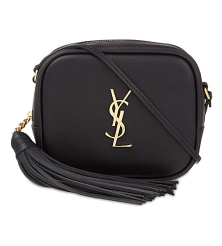 Monogramme Blogger Leather Shoulder Bag in Black