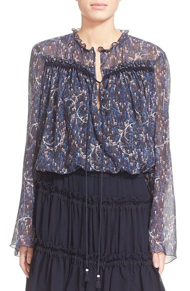 Cotton and silk blouse See By Chloé