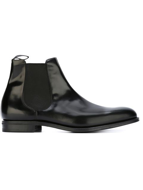CHURCH'S Houston Leather Chelsea Boots - Black