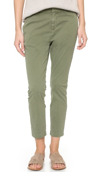East Hampton Mid-Rise Cotton-Blend Chino Trousers, Camo