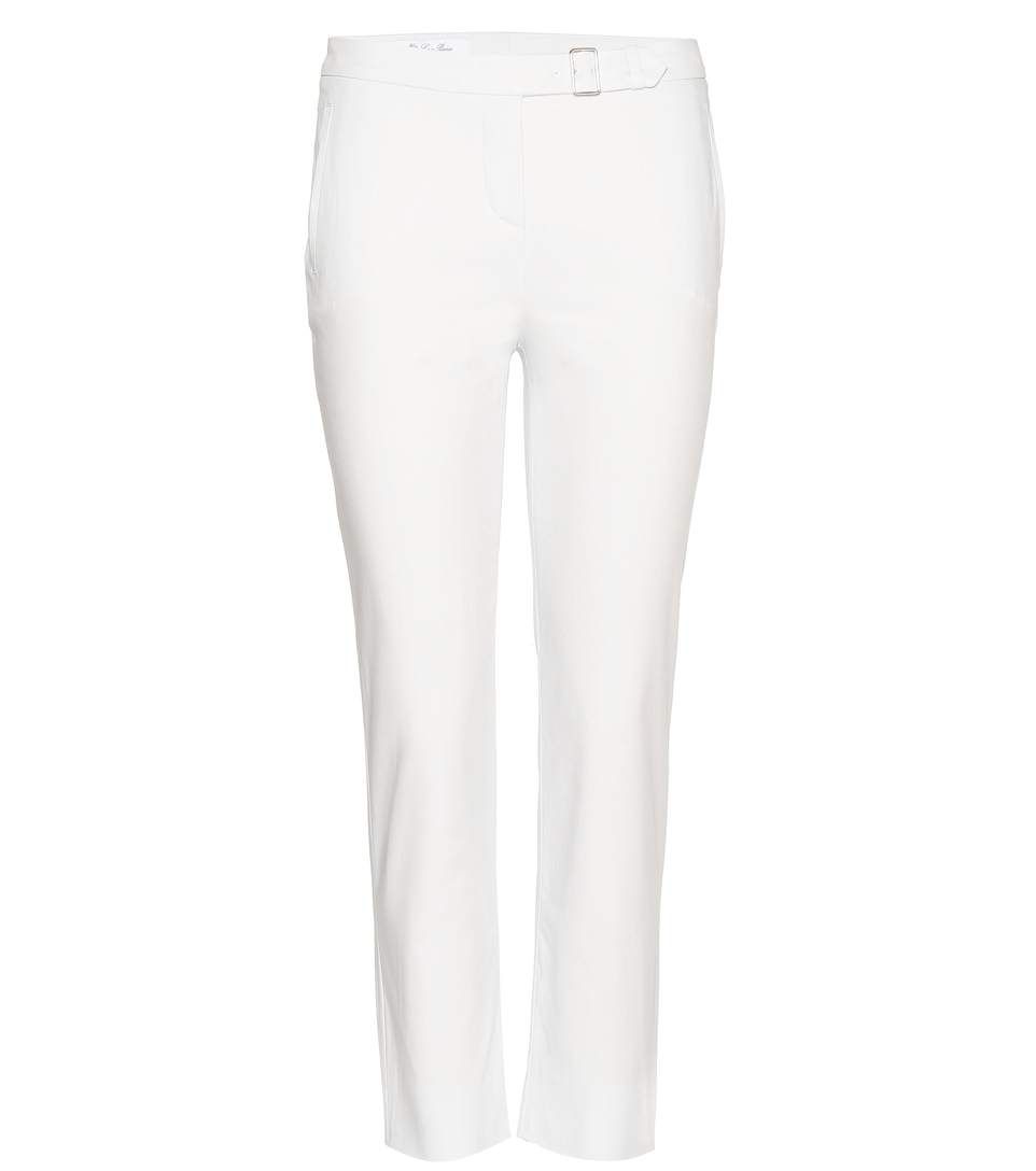Giles New Baker Stretch Cotton Trousers, White