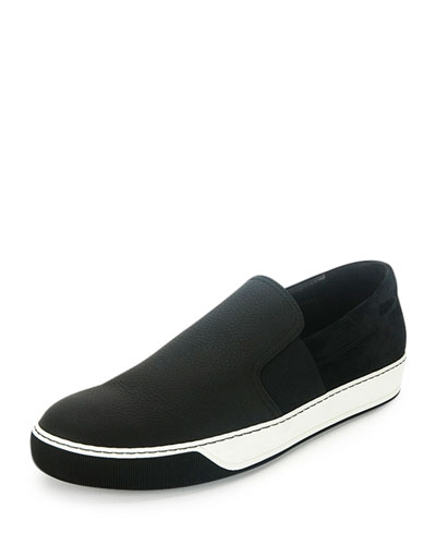Lanvin Leather Slip-On Sneakers discount good selling best cheap price online cheap quality shop sale with paypal IydCxHq