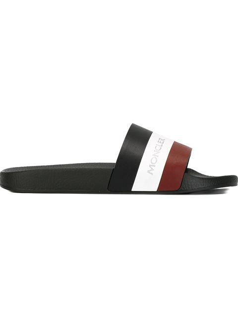 Basile Webbing And Rubber Slides - BlackMoncler 5aP9Apjb