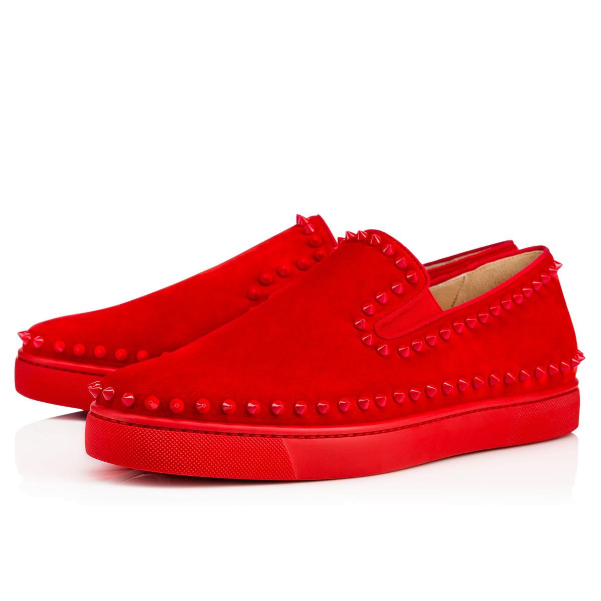 Retail Men's shoes Christian Louboutin pik boat men s flat Pavot 1130280R102 Flagship Store